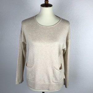 Zara Knitwear Beige Front Pockets Sweater Sz 13/14